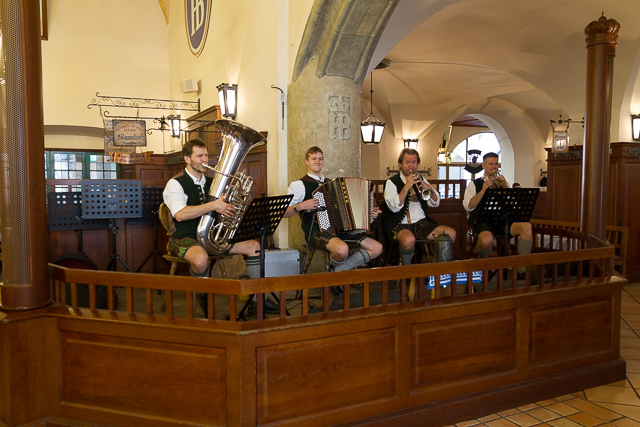 The Hofbrauhaus entertainment.