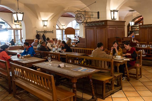 Hofbrauhaus interior.