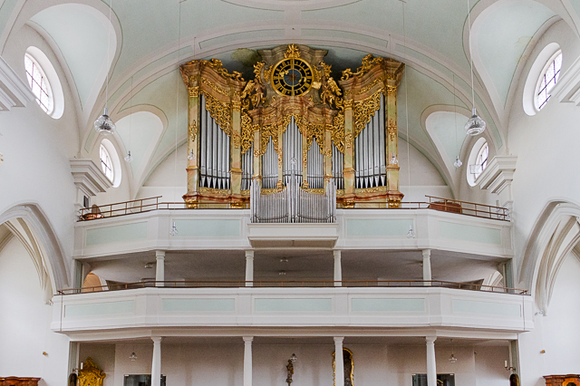 The pipe organ in St Johannes Church Vilshofen, Germany