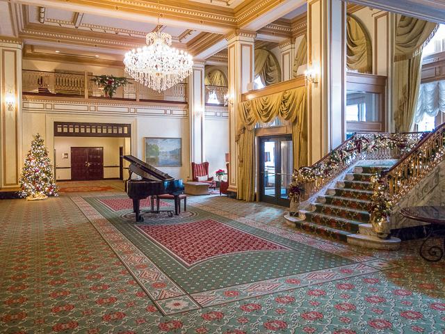 The original hotel lobby