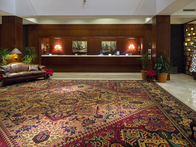 Lobby and check in desk