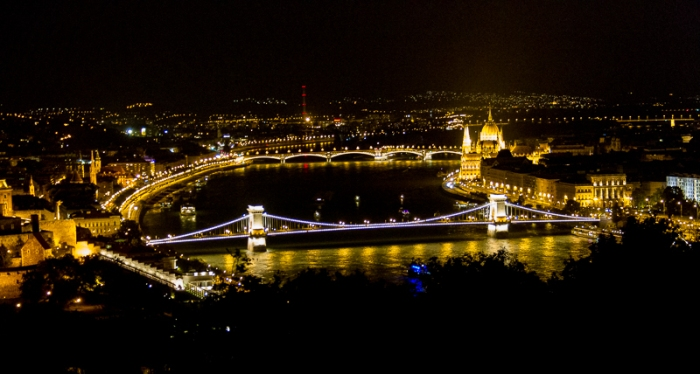 Budapest bridges across the Danube