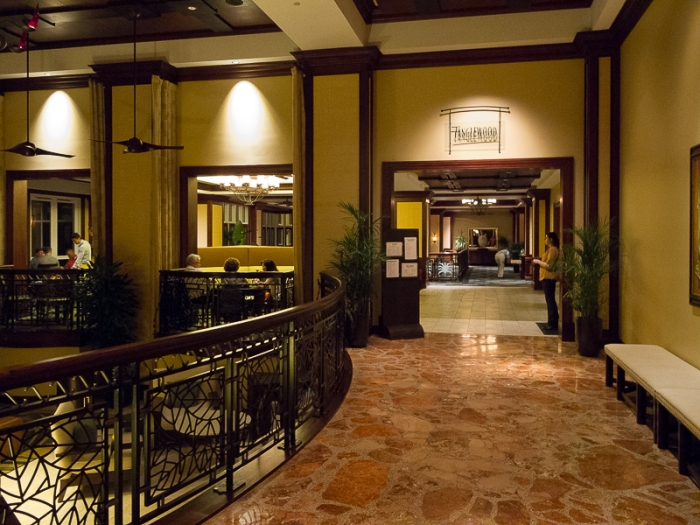 Lobby view of one of the restaurants.