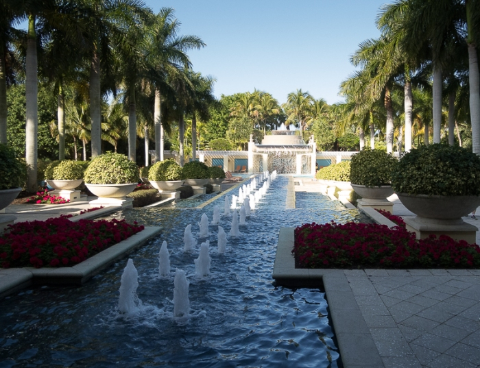 Water feature leading to one of the pool areas.